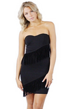 Haifa Fringe Sweetheart Dress - Bathing Suit