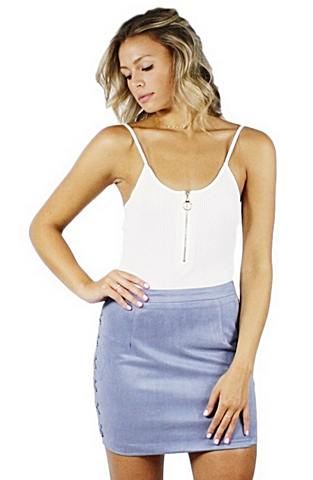 Talia Suede Mini Skirt - Bathing Suit