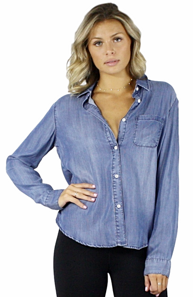 Jaylene Denim Button Up