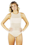 Dawn Mesh Covered Bodysuit - Bathing Suit