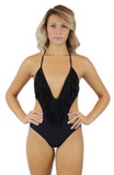 DALIA FRINGE ONE PIECE SWIMSUIT - Bathing Suit
