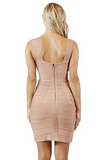 Evelyn Bodycon Bandage Dress - Bathing Suit