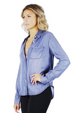 Jaylene Denim Button Up - Bathing Suit