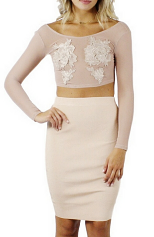 Leilani Bandage Pencil Skirt - Bathing Suit