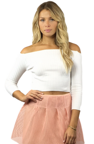 Nancy Off Shoulder Top - Bathing Suit