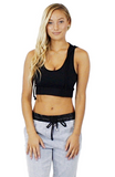 Heather Hooded Athletic Bra/Top - Bathing Suit