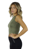 Stacy Crop Tank Top - Bathing Suit