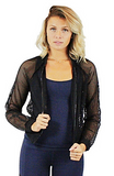 Amani Mesh Zip Up Jacket - Bathing Suit