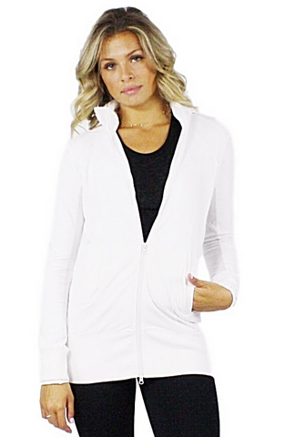 Kelley Athletic Zip-up Jacket - Bathing Suit