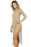Juels Mesh Long Sleeve Dress - Bathing Suit