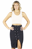 Bryce Lace up Pencil skirt - Bathing Suit