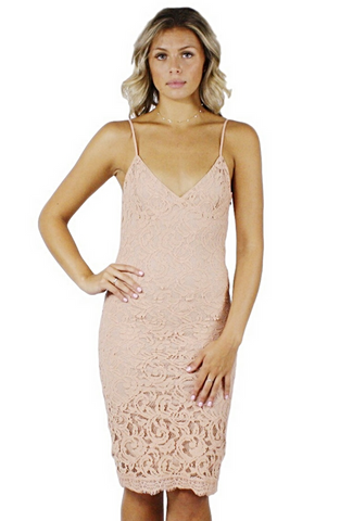 Anya Nude Lace Dress - Bathing Suit