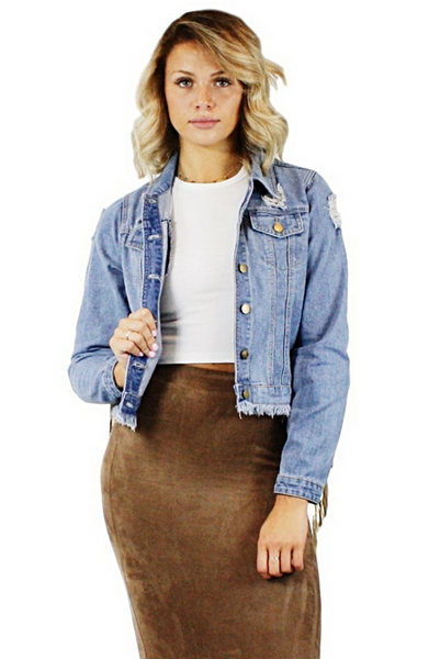 Eden Fringe Denim Jacket