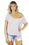 Mila Distressed Top - Bathing Suit