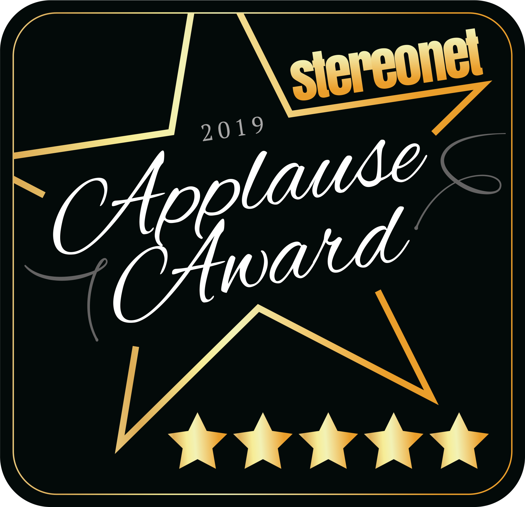 StereoNet Applause Award 2019