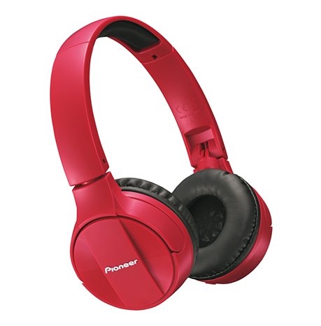 SE-MJ553BT Bluetooth Over-Ear Stereo Headphones - Red