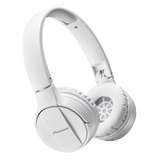 SE-MJ553BT Bluetooth Over-Ear Stereo Headphones - White