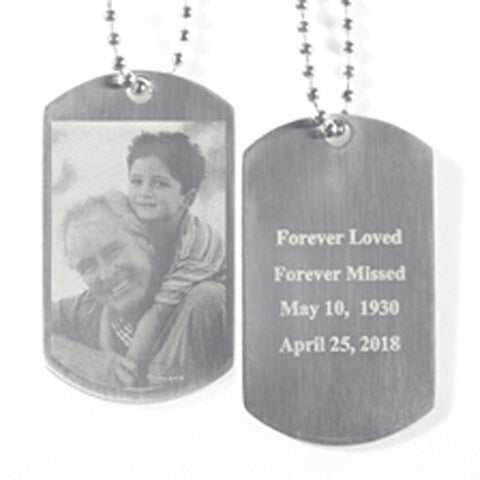 Dog Tag - Black & White