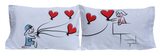 "StellaMia ""Balloons"" Pillowcase Set for Couples - Romantic Gifts for Couples Ideas Couples Pillowcase Set"