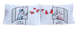 "StellaMia ""Windows"" Pillowcase Set for Couples - Romantic Gifts for Couples Ideas Couples Pillowcase Set"
