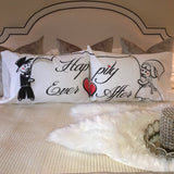 "StellaMia ""Happily Ever After"" Pillowcase Set for Couples - Romantic Gifts for Couples Ideas Couples Pillowcase Set"