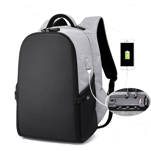 GSHWJS Backpack Laptop Waterproof Backpack with USB Charging Port Light Travel Backpack for Men and Women Business Briefcase