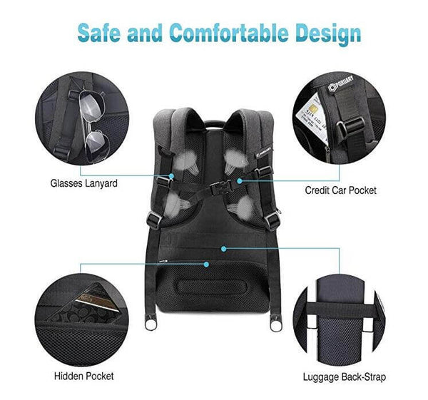 92326d42707c Travel Backpack Men Waterproof Tear Resisting Business Laptop Backpack – MONT  SWISS