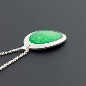 Enamel Pendant in Spring Green