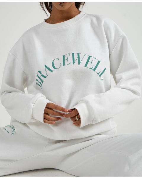 Bracewell Cotton Fleece Crewneck Unisex Long Sleeves Sweater