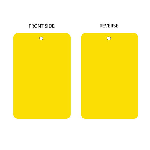 Blank Yellow Tag (packs of 10)