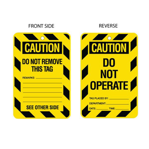 Caution Do Not Operate (packs of 10)