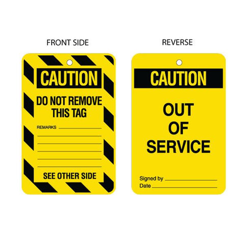 Caution Out of Service Tag (packs of 10)