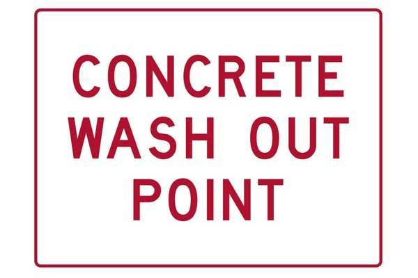 Concrete Wash Out Point