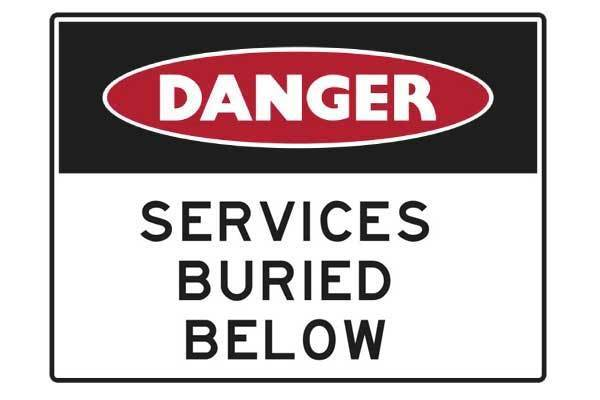 Danger Services Buried Below