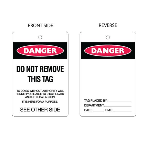 Danger Do Not Remove - PLC Tag (packs of 10)