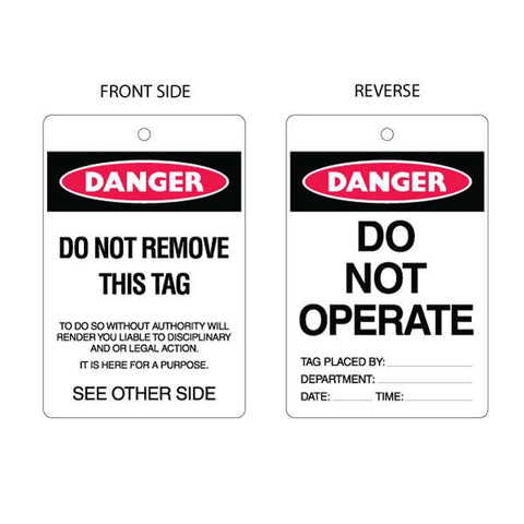 Danger Do Not Operate Tag (packs of 10)