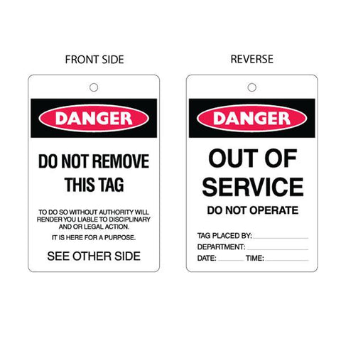 Danger Out of Service Tag (packs of 10)