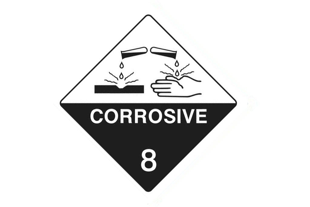 Dangerous Goods Sign Corrosive 8