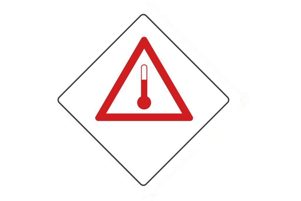 Dangerous Goods Sign Elevated Temperature Substances