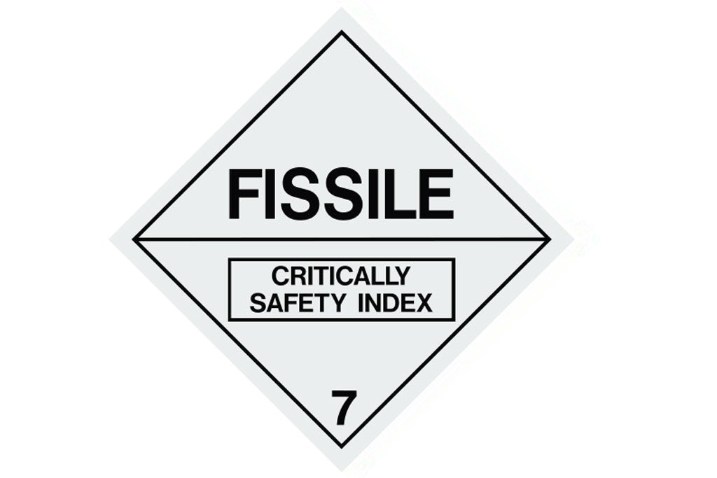 Dangerous Goods Sign Fissile 7