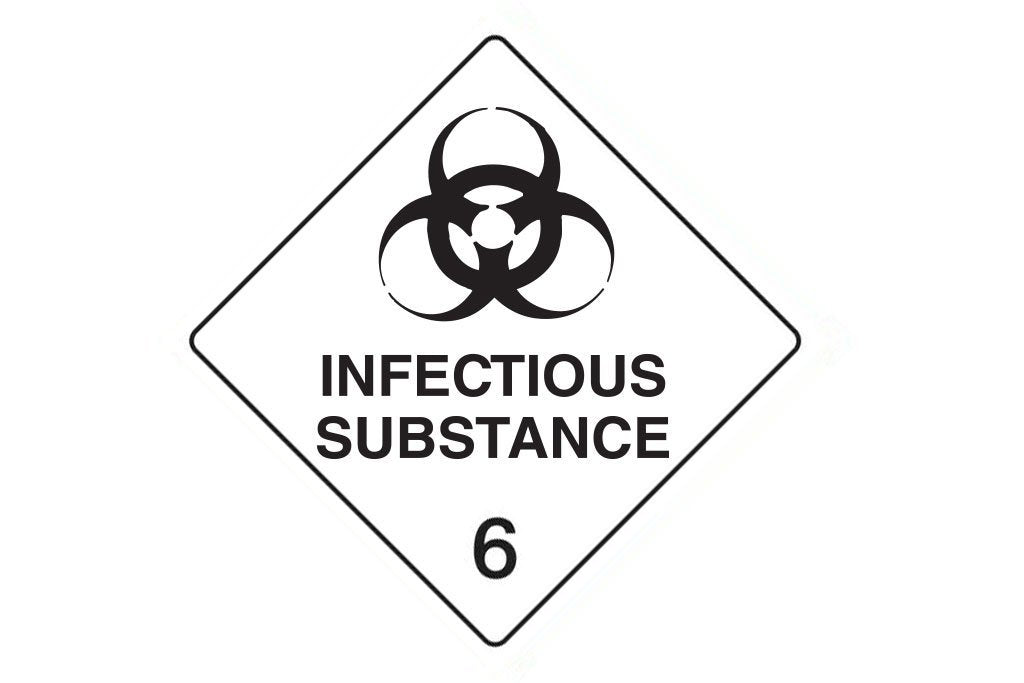 Dangerous Goods Sign Infectious Substance 6