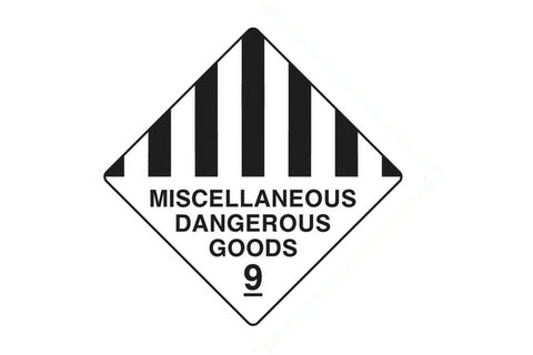 Dangerous Goods Sign Miscellaneous Dangerous Goods