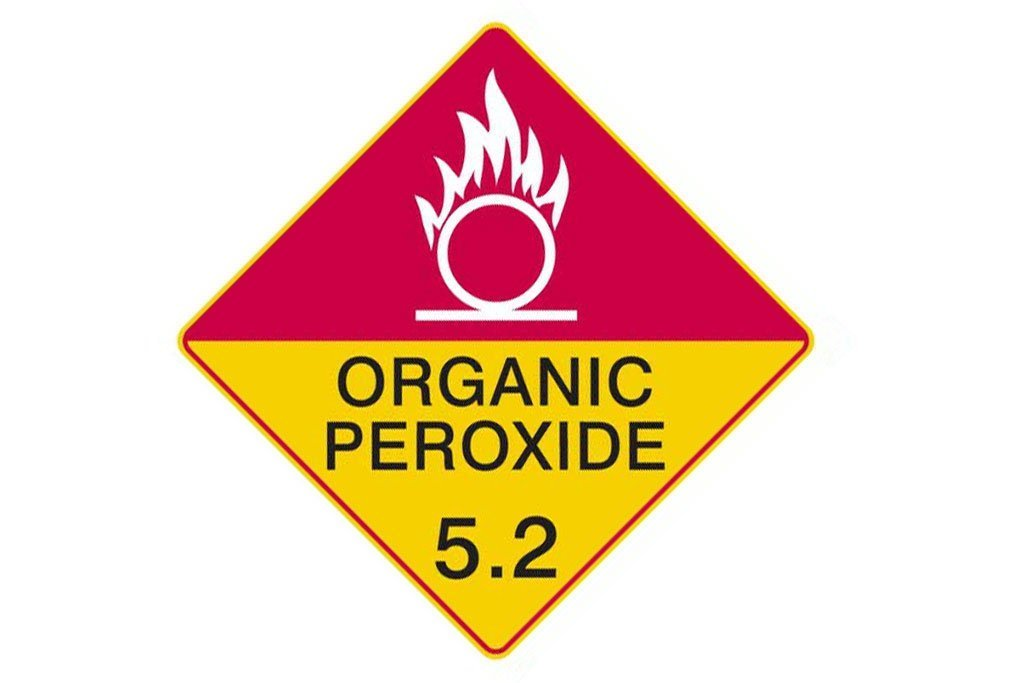 Dangerous Goods Sign Organic Peroxide 5.2 White