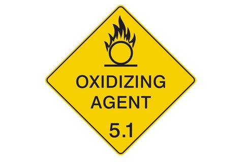 Dangerous Goods Sign Oxidising Agent 5.1