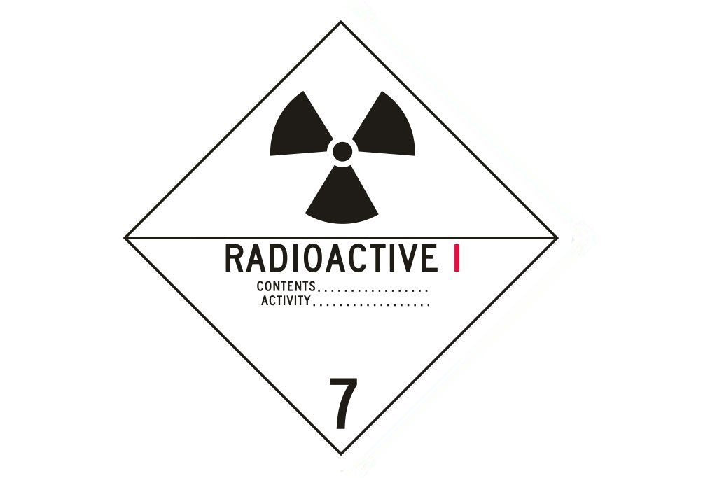 Dangerous Goods Sign Radioactive 1 7