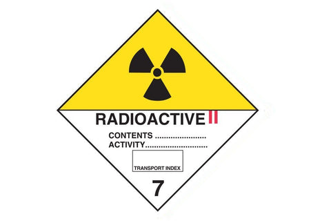 Dangerous Goods Sign Radioactive 2 7