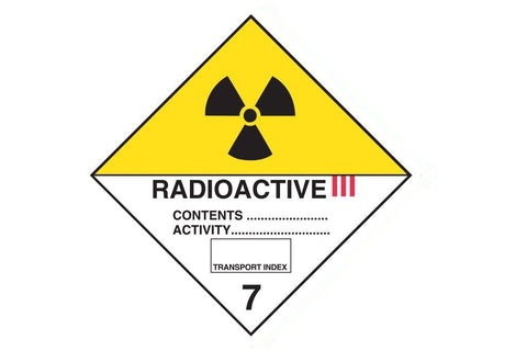 Dangerous Goods Sign Radioactive 3 7