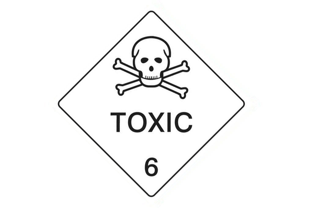 Dangerous Goods Sign Toxic 6