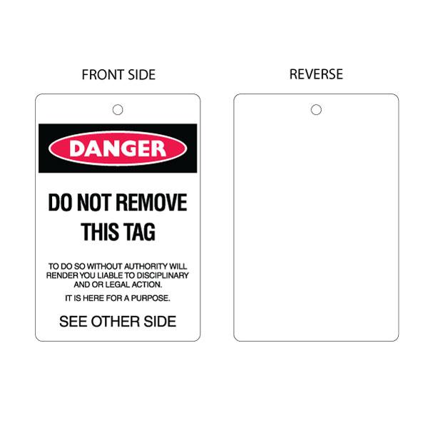 Danger Do Not Remove - Blank Reverse (packs of 10)