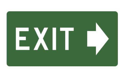 Exit With Arrow Right Sign